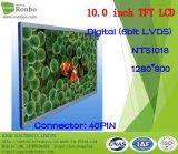 """10.1 """" écrans de TFT LCD de 1280X800 Lvds, 40pin pour la position, sonnette, médicale, véhicules"""