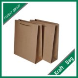 Bolsa de papel impresa de Kraft con las manetas de papel
