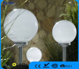 Indicatore luminoso alimentato solare del giardino dell'indicatore luminoso del palo con la sfera di 25 cm
