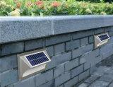 Luz solar sin cable ligera solar de la escalera LED del paso de progresión solar de la lámpara de la seguridad del precio bajo LED con de calidad superior