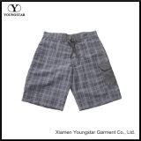 Shorts dos troncos da placa do Swimwear dos homens do teste padrão da manta sem forro