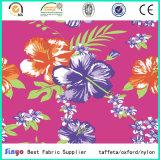 Nenhuma flor Multi-Color do poliéster da moda branca do PVC imprimiu a tela