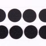 Pontos do laço do gancho de Velcro/moedas autoadesivos - preto