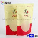 El color modificado para requisitos particulares se levanta la bolsa Ziplock para diverso té del bocado con el material laminado
