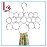 Accesorios del metal - 18 bucles, percha de plata de la bufanda de la perla