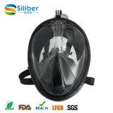 Máscara Snorkeling do mergulho adulto quente da face cheia da venda com tecnologia Anti-Fog