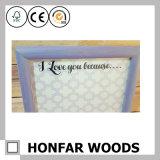 Картинная рамка коробки искусствоа стола Floater холстины деревянная