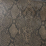 Couro de sapatas de couro quente das bolsas do PVC do plutônio do teste padrão da serpente das vendas