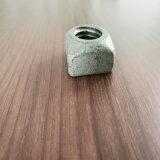 Écrou carré galvanisé pour boulon machine