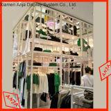 Présentoir de vêtements de crémaillères d'étalage de mur de vêtement