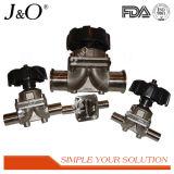 Valvola a diaframma sanitaria del riduttore di 3 modi dell'acciaio inossidabile