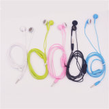 Auriculares do fone de ouvido do microfone da em-Orelha para o jogador de MP3 do iPhone de Univeral Xiaomi Samsung com grampo (XSEJ-010)