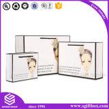 Bolsa de papel de encargo de la impresión rosada para el empaquetado de las compras