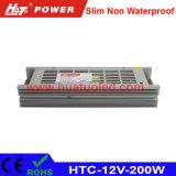 12V-200W alimentazione elettrica non impermeabile sottile di tensione costante LED
