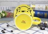 Grandi tazze di caffè di ceramica con il disegno della decalcomania per minestra