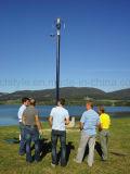 400W het Verticale Systeem van de Turbine van de Wind van de As 12V/24V Stedelijke