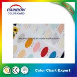 Carta de color interior de la pintura del material de construcción
