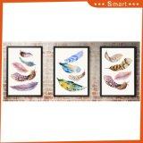 キャンバスの多彩な羽の印刷の絵画