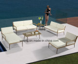 Sofà esterno della mobilia del lato del raggruppamento del patio della nuova di disegno mobilia dell'hotel impostato con la mobilia del &PE-Rattan dell'allume