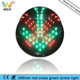 luz de sinal de lavagem do carro da seta do verde da cruz vermelha de 200mm