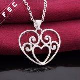 Onlangs Ontwerp 18 de Zilveren Geplateerde Halsband van de Tegenhanger van het Hart '' voor Meisje