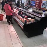 De Teller van de Ijskast van het Vlees van de Winkel van Buthery/de Koelkast van de Vertoning van het Vlees