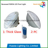 Natación gruesa Poollamp del bulbo del vidrio LED PAR56 de IP68 12V
