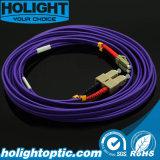 Cuerda de corrección de fibra óptica LC al duplex del Sc Om4
