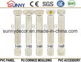 Colonne de polyuréthane d'intérieur de colonne PU / PU d'art romain