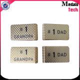 Kundenspezifischer Firmenzeichen-Metallleerzeichen-Geld-Klipp (MTMC019)