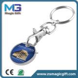 Moneta Keychain del carrello timbrata ferro poco costoso di promozione