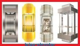 유리제 전송자 엘리베이터 상승 수용량 500kg-1000kg