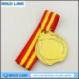 Cadeau fait sur commande en gros de promotion de médaillon de récompense de blanc d'or