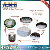 Tarjeta pasiva plástica de encargo del embutido/IC de la hoja 13.56MHz RFID