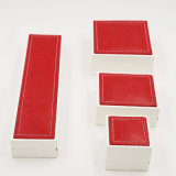 Leatherette замши PU коробка кожаный пластичная для Jewellery (J38-E)