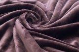 Shuのベルベティーン毛布/Sherpaの羊毛投げ暗いブラウンが付いている2017 Super-Softベロア