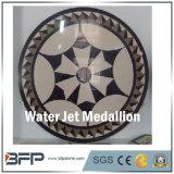 Medallones de mármol redondos del suelo del jet de agua del modelo de la alta calidad