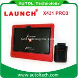 2017 le plus défunt lancement lourd initial X431 PRO3 de scanner de camion de la tablette PC WiFi/Bluetooth du lancement X431 PRO3 10.1 ''