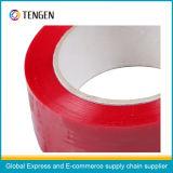 Fita adesiva da embalagem da cor vermelha