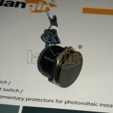 25mm IP68 200mA 24VAC / DC Flat Head Normalmente aberto Latching Aluminium Black Piezo Switch