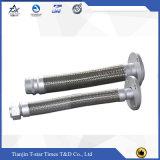 Boyau ondulé de tressage de métal flexible de fil d'acier inoxydable
