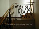 Barandilla de lujo interior de la escalera del acero inoxidable de la escalera espiral