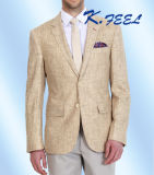 Giacca sportiva di tela del più nuovo cammello su ordine di modo 2016 per gli uomini