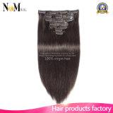 織り方プラチナ金髪の拡張613カラークリップ毛で縫いなさい