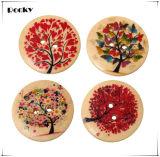 Bouton en bois de couture de boutons de main de prix usine