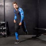Ropa de deportes corriente de la aptitud del camuflaje respirable de la gimnasia de la compresión del hombre
