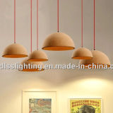 Luzes de madeira da suspensão da sala de jantar original moderna da cortiça