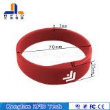 Wristband caliente del silicón RFID Lf de la venta para el sistema de la atención del tiempo