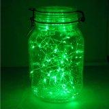 Indicatore luminoso verde 3AA 10 FT a pile della stringa degli indicatori luminosi leggiadramente LED di lunghezza con collegare di rame