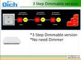 新しいデザインIP54 3ステップDimmable正方形LEDの天井灯